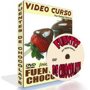 Video Curso Decoracion de Fuentes de Chocolate para Negocio